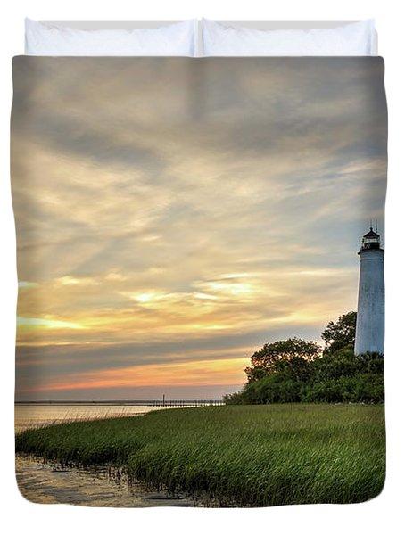 St. Mark's Lighthouse Duvet Cover