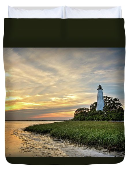 St. Mark's Lighthouse Duvet Cover
