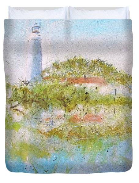 St Marks Lighthouse Duvet Cover