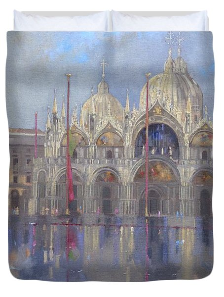 St Mark's -venice Duvet Cover by Peter Miller