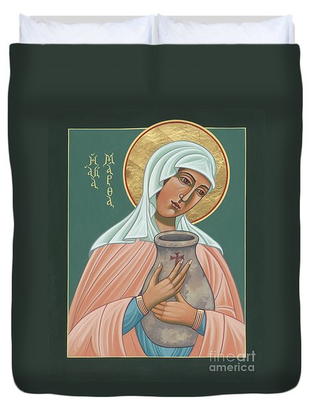 Duvet Cover featuring the painting St Martha Of Bethany  by William Hart McNichols