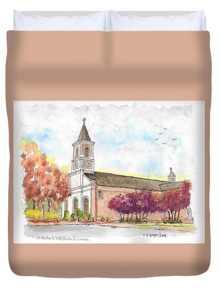 St. Martin De Tours Catholic Church, Martinville, Louisiana Duvet Cover
