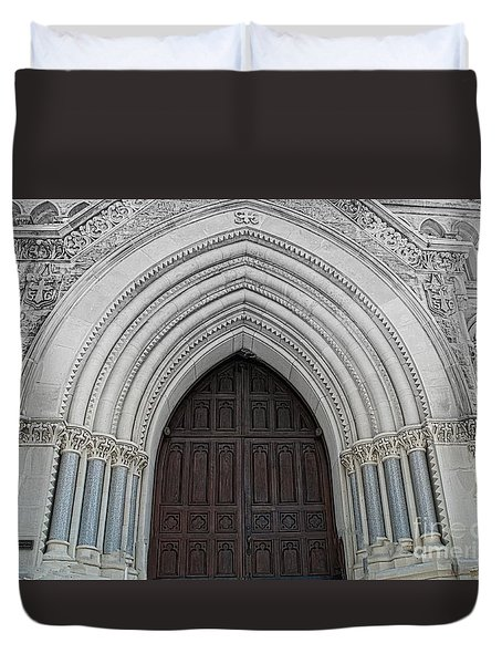St. Mary Cathedral- Austin Texas Duvet Cover