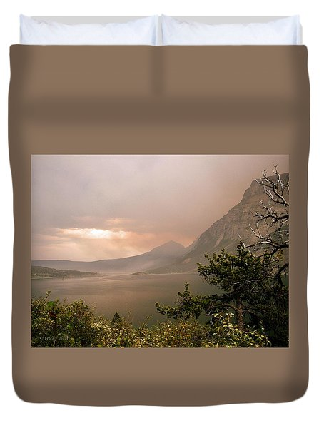 St Mary Lake In The Smoke Duvet Cover