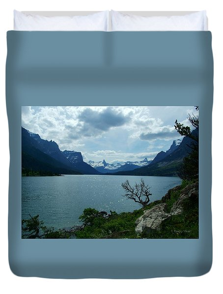 St Mary Lake, Incoming Storm Duvet Cover