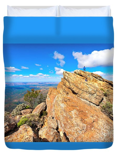 St Mary Peak Duvet Cover by Bill  Robinson