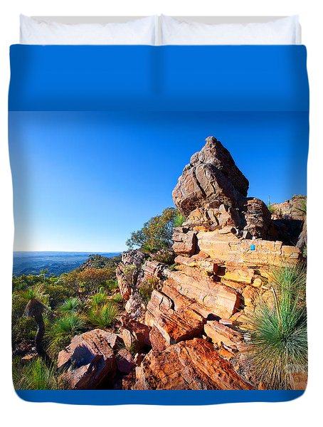 St Mary Peak Wilpena Pound Duvet Cover by Bill  Robinson