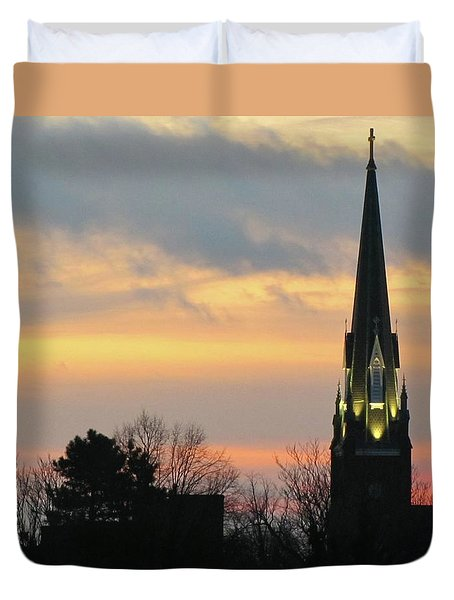 St. Mary's At Dawn Duvet Cover