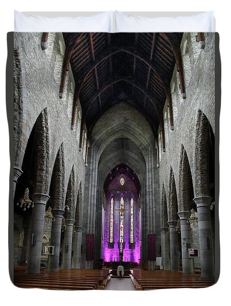 Duvet Cover featuring the photograph St. Mary's Cathedral, Killarney Ireland 1 by Marie Leslie