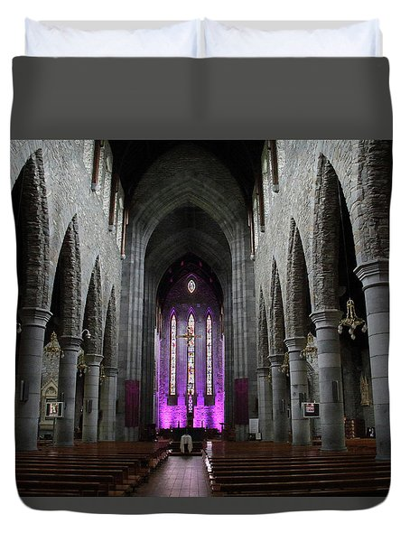 Duvet Cover featuring the photograph St. Mary's Cathedral, Killarney, Ireland 2 by Marie Leslie