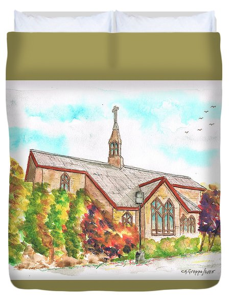 St. Mary's Catholic Church, Brighton, Utah Duvet Cover