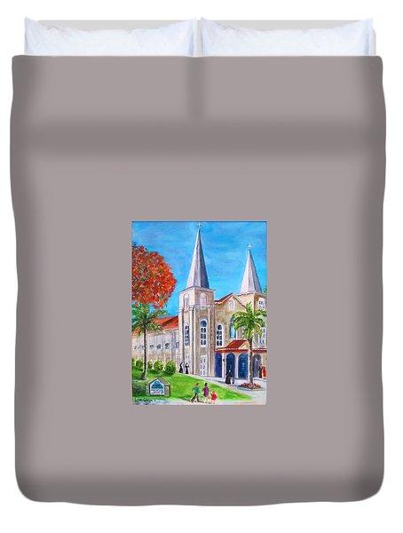 St. Mary's Catholic Church Key West Duvet Cover