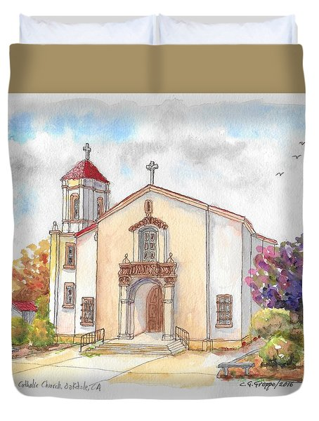 St. Mary's Catholic Church, Oakdale, California Duvet Cover