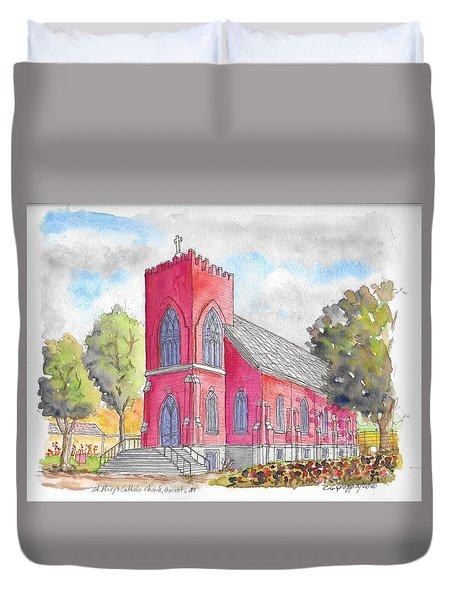 St. Mary's Catholic Church, Oneonta, Ny Duvet Cover