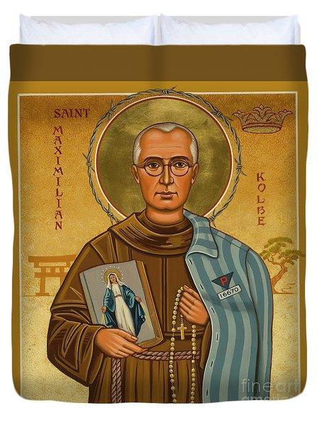St. Maximilian Kolbe - Jckol Duvet Cover