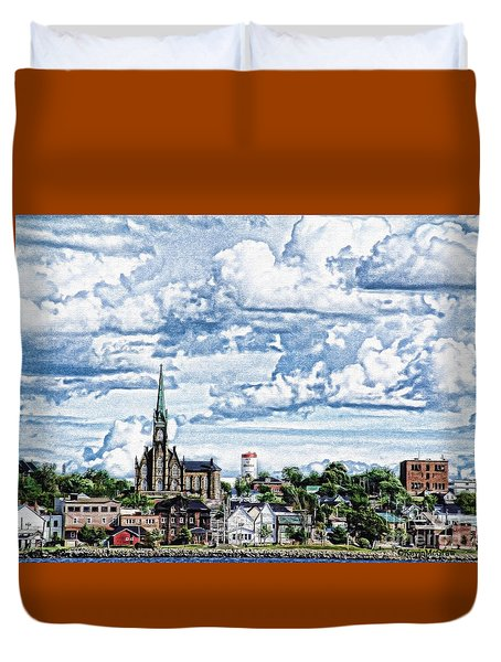 St Michaels Basilica Duvet Cover by KJMcGraw