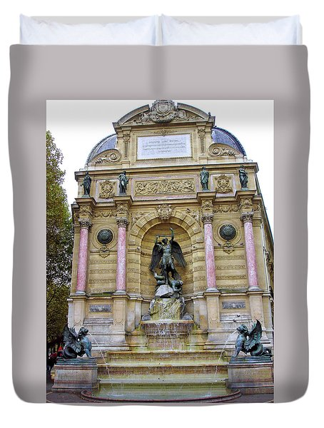 St. Michael's Fountain Duvet Cover