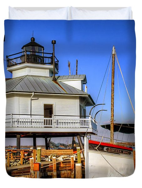St Michaels Lighthouse Duvet Cover