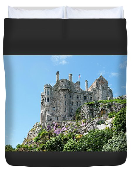 St Michael's Mount Castle Duvet Cover