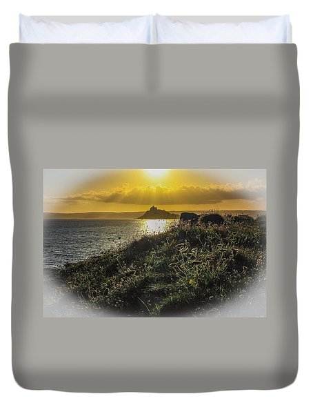 St Michaels Mount  Duvet Cover