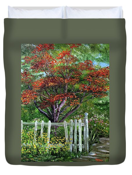 St. Michael's Tree Duvet Cover