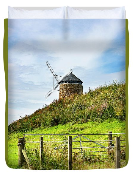 Duvet Cover featuring the photograph St Monans Landmark by MaryJane Armstrong