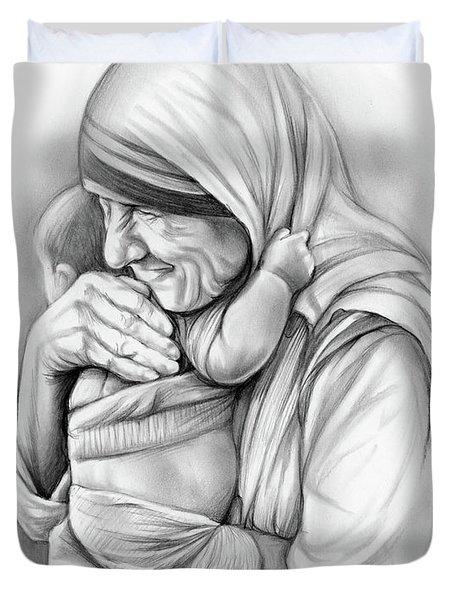 St Mother Teresa Duvet Cover