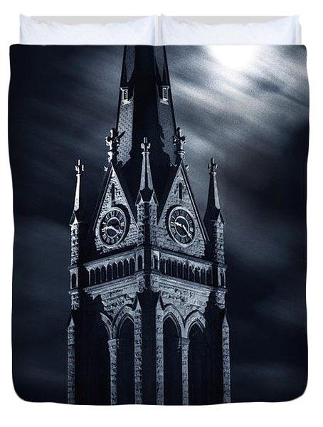 St Nicholas Church Wilkes Barre Pennsylvania Duvet Cover