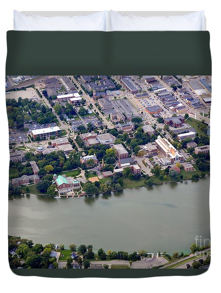 Duvet Cover featuring the photograph St. Norberts University by Bill Lang