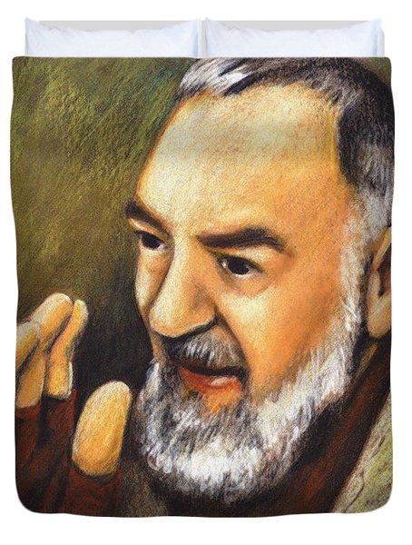 St. Padre Pio Of Pietrelcina - Jlpio Duvet Cover