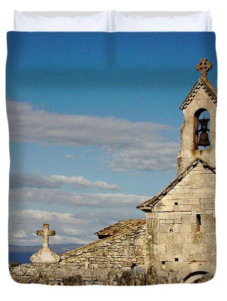 St. Pantaleon Church,  Luberon, France Duvet Cover