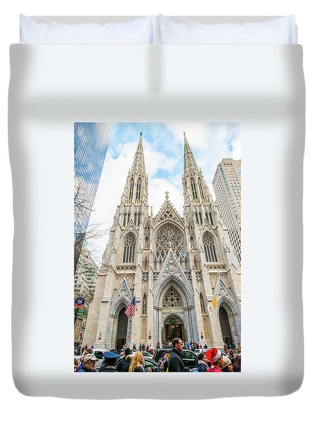 St. Patrick Cathedral In New York Duvet Cover
