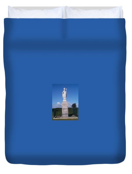 Duvet Cover featuring the photograph St Patrick by Charles Kraus