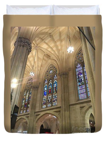 St. Patricks Cathedral Interior Duvet Cover