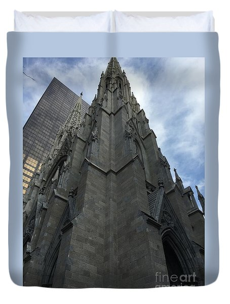 St. Patricks Cathedral Perspective Duvet Cover