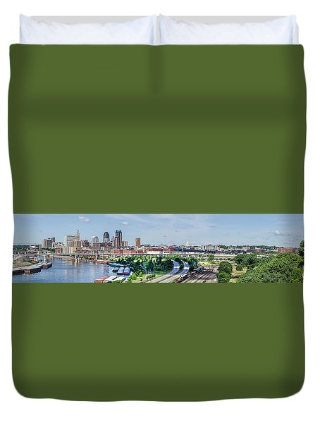 Duvet Cover featuring the photograph St. Paul by Dan Traun