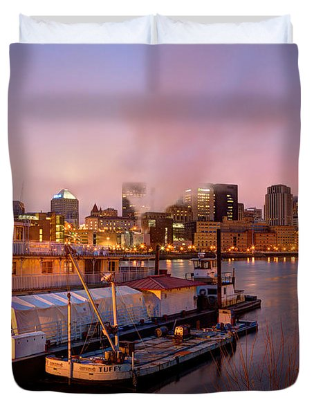 St Paul Minnesota Its A River Town Duvet Cover