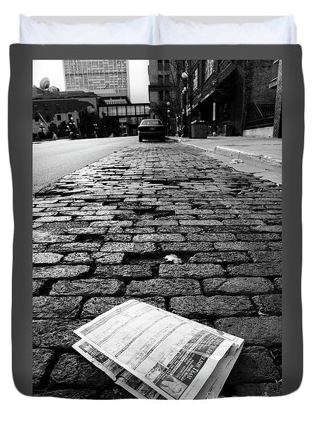 St Paul Street Bw Duvet Cover
