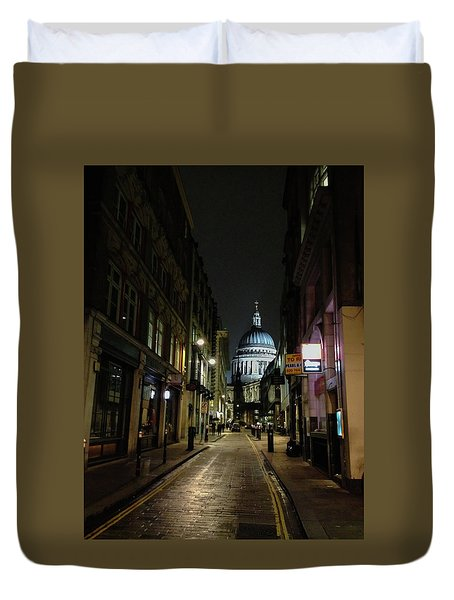St. Pauls By Night Duvet Cover