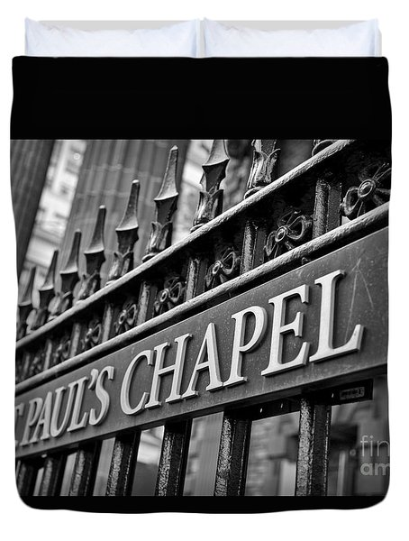 St. Paul's Chapel Duvet Cover
