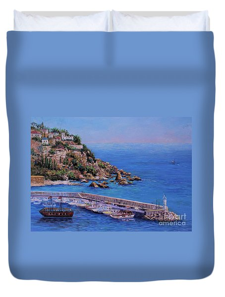 St Pauls Harbor Duvet Cover