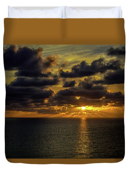 St. Pete Sunset Duvet Cover