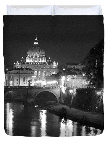 St. Peters At Night Duvet Cover