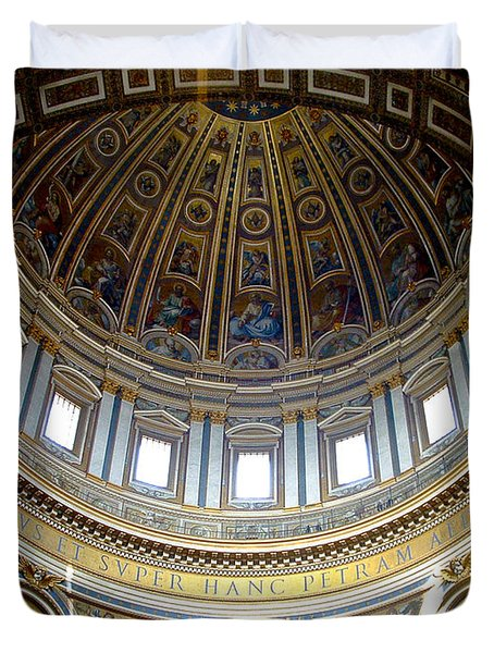 St. Peters Basilica Dome Duvet Cover