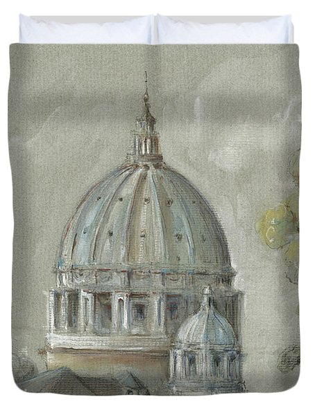 St Peter's Basilica Rome Duvet Cover