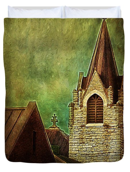 St Peter's By Night Duvet Cover
