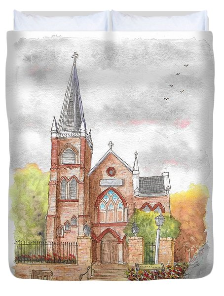 St. Peter's Catholic Church, Harpers Ferry, West Virginia Duvet Cover