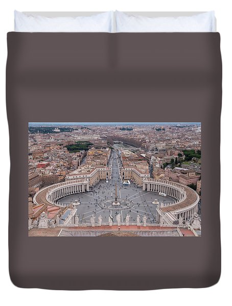 St. Peter's Square Duvet Cover by Sergey Simanovsky
