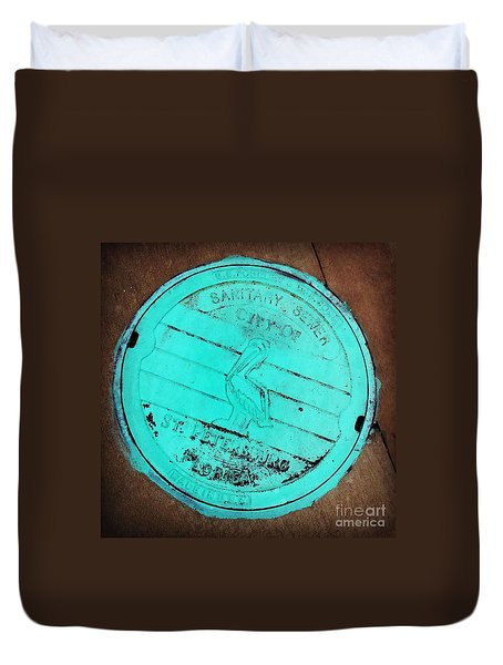 St Petersburg Manhole Duvet Cover