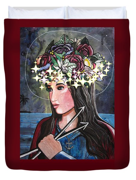 St. Philomena Duvet Cover